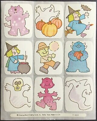 Vintage Stickers - Drawing Board - Halloween - Excellent!!
