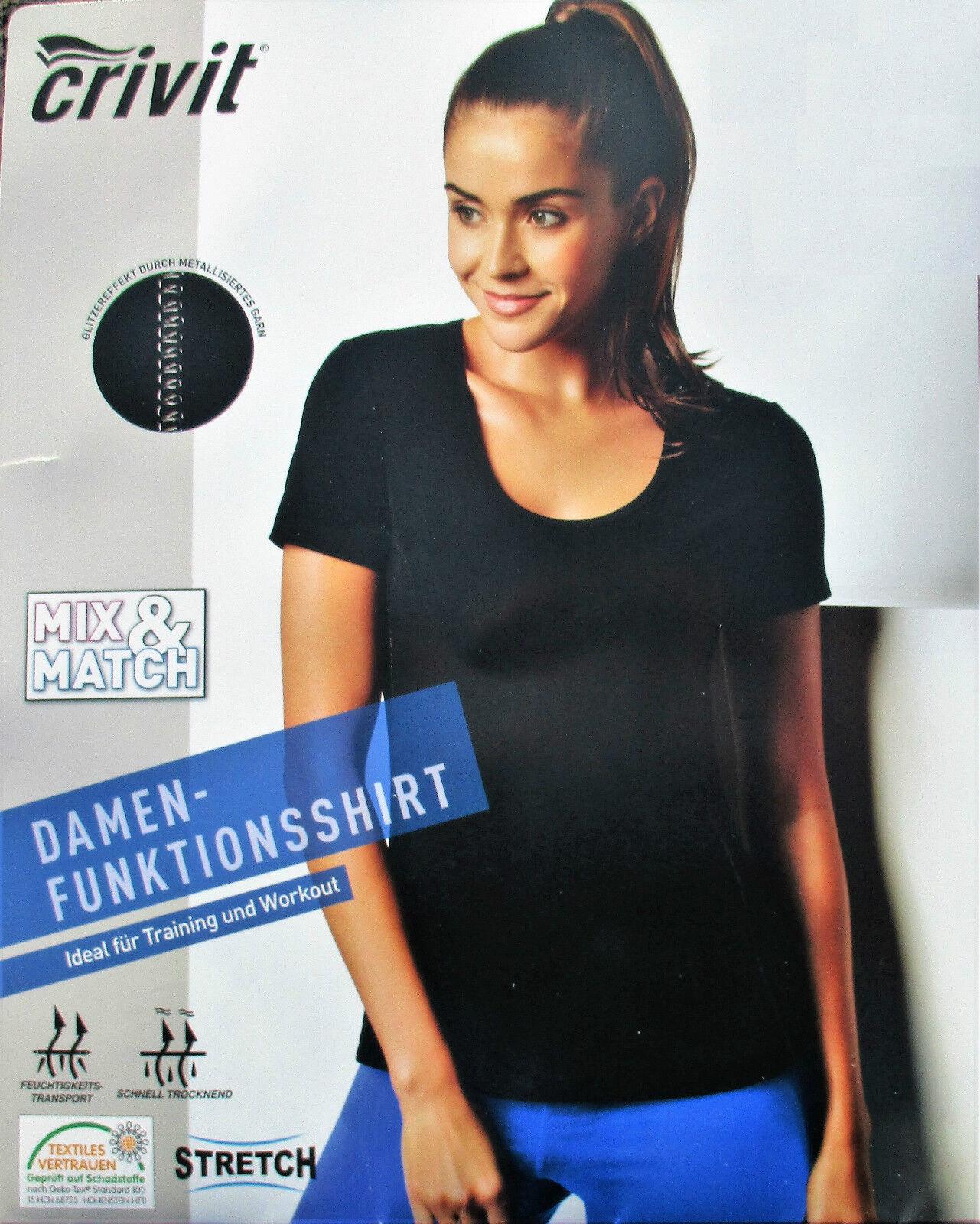 CRIVIT® Damen T-Shirt Funktionsshirt  Sport Outdoor Freizeit Training Workout