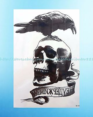 crow death skull men's 8.25