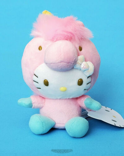 "Hello Kitty Pink Unicorn Costume - 5"" Plush Sanrio - Neko World 2018"