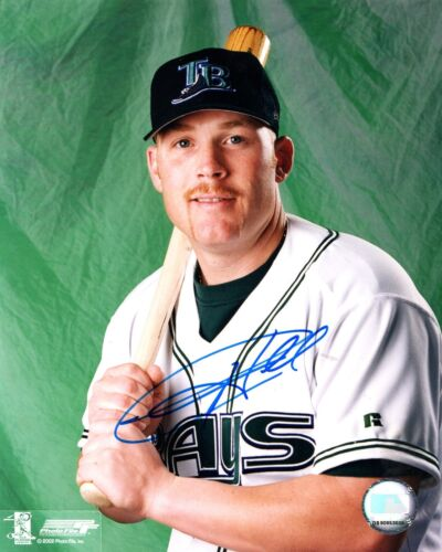Toby Hall Tampa Bay Devil Rays Signed 8x10 Photo BSC COA Autograph