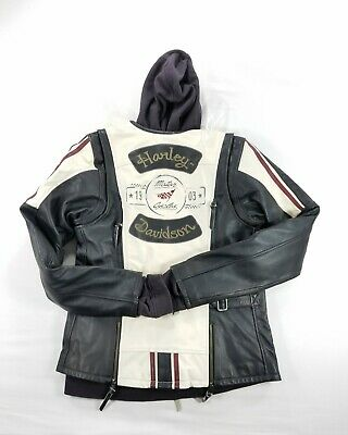 Harley Davidson Womens Alyssa 3-in-1 Leather Jacket 97004-18VL sz Large Tall NEW