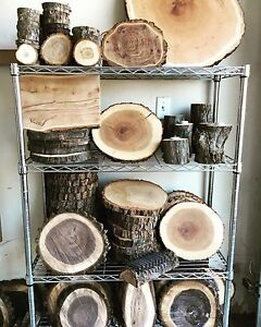 RUSTIC WOOD ROUNDS - wood coasters - cookies- centre pieces