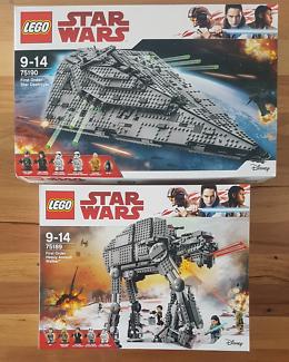 Star Wars Lego 75189 + 75190 Heavy Assault Walker +Star Destroyer