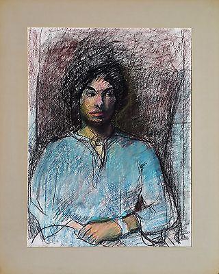 "Michael Steiner ""Woman Series #5"", Pastel & Charcoal, 23.5""h x 17""w image"