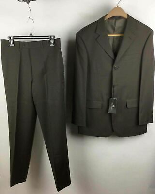 Pal Bossi 2-PC Taupe Suit Single-Breasted Jacket (48) & Flat Front Pant (32)