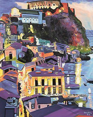ITALY Coast Original Art PAINTING Artist DAN BYL Modern Contemporary Huge 4x5ft