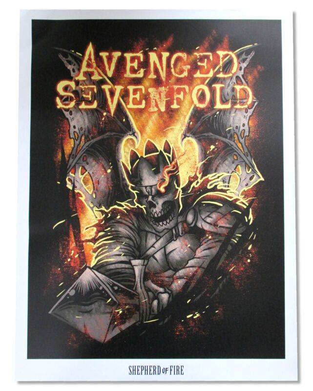 Avenged Sevenfold Shepherd Of Fire Poster New Official Band Music