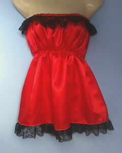 red-satin-dress-victorian-edwardian-adult-baby-fancy-dress-sissy-maid-cosplay