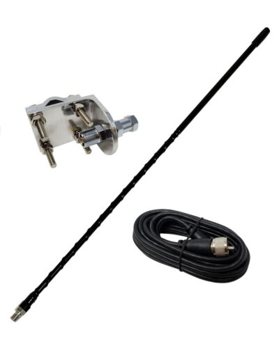 Shark Antennas TS821-4B Single CB Antenna Kit with 4ft Antenna, Mount & Cable