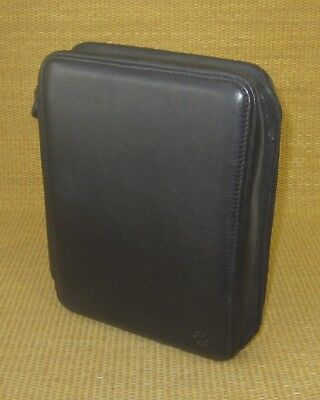 Classic 1.125 Rings Black Leather Deluxe Franklin Covey Zip Plannerbinder