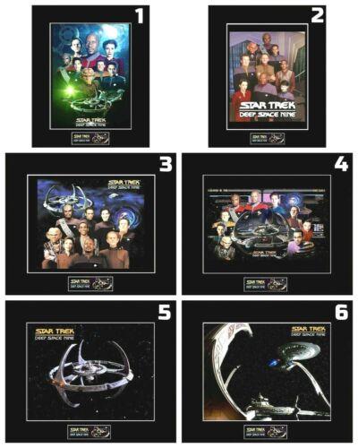 "6 STAR TREK DS9 Crew/Ship 8"" x 10"" Photos - 11"" x 14"" Matted - CHOOSE ANY 1"