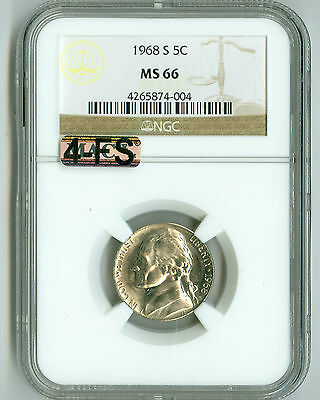 Click now to see the BUY IT NOW Price! 1968 S JEFFERSON NICKEL MS66 NGC MAC 4FS 4 FULL STEPS TOUGH YEAR FOR STEPS
