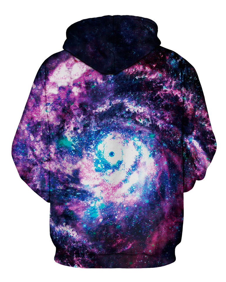 Mens Women Galaxy Printed Hoodie Sweatshirt Hooded Sweater Pullover Jacket Coat