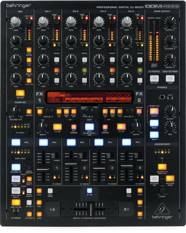 Behringer Digital Pro Mixer DDM4000 5-channel DJ Mixer