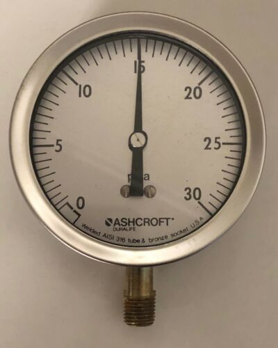 Ashcroft Industrial Duralife Gauge 35-1009-AW-02L-30#A-XAB USA made - 5 gauges