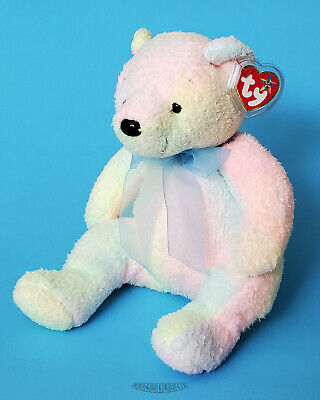 Ty Beanie Buddy MELLOW Tie-Dyed Bear - 2001 - NEW - MWMT
