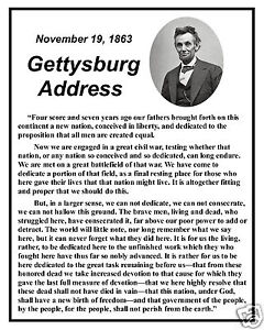 the literary elements of abraham lincolns gettysburg address Gettysburg address - the president abraham lincoln arrived in gettysburg experts who have studied the speech say its wording has roots in classical literature, as well as the king james bible at first, the speech was regarded with mixed results.