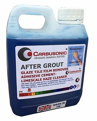 Acid Descaling Grout Tile Haze Stain Adhesive Film Remover 1 Litre Biodegradable
