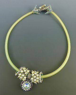 Gear Head Necklace Kit, green & silver color way