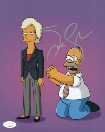 JANE LYNCH Hand Signed 8X10 THE SIMPSONS Photo IN PERSON Autograph JSA COA Cert