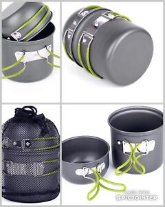 1-2 PERSON ULTRALIGHT BACKPACKING POT SETS