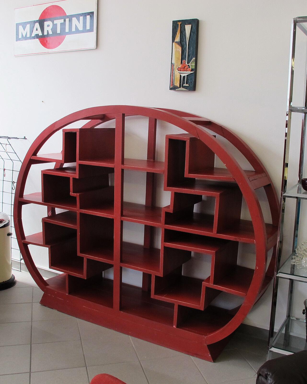 Altes Rundregal Art Deco Regal Holzregal Bauhaus