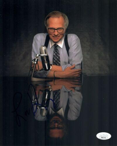 LARRY KING Signed TALK SHOW LEGEND 8x10 Photo Autograph JSA COA
