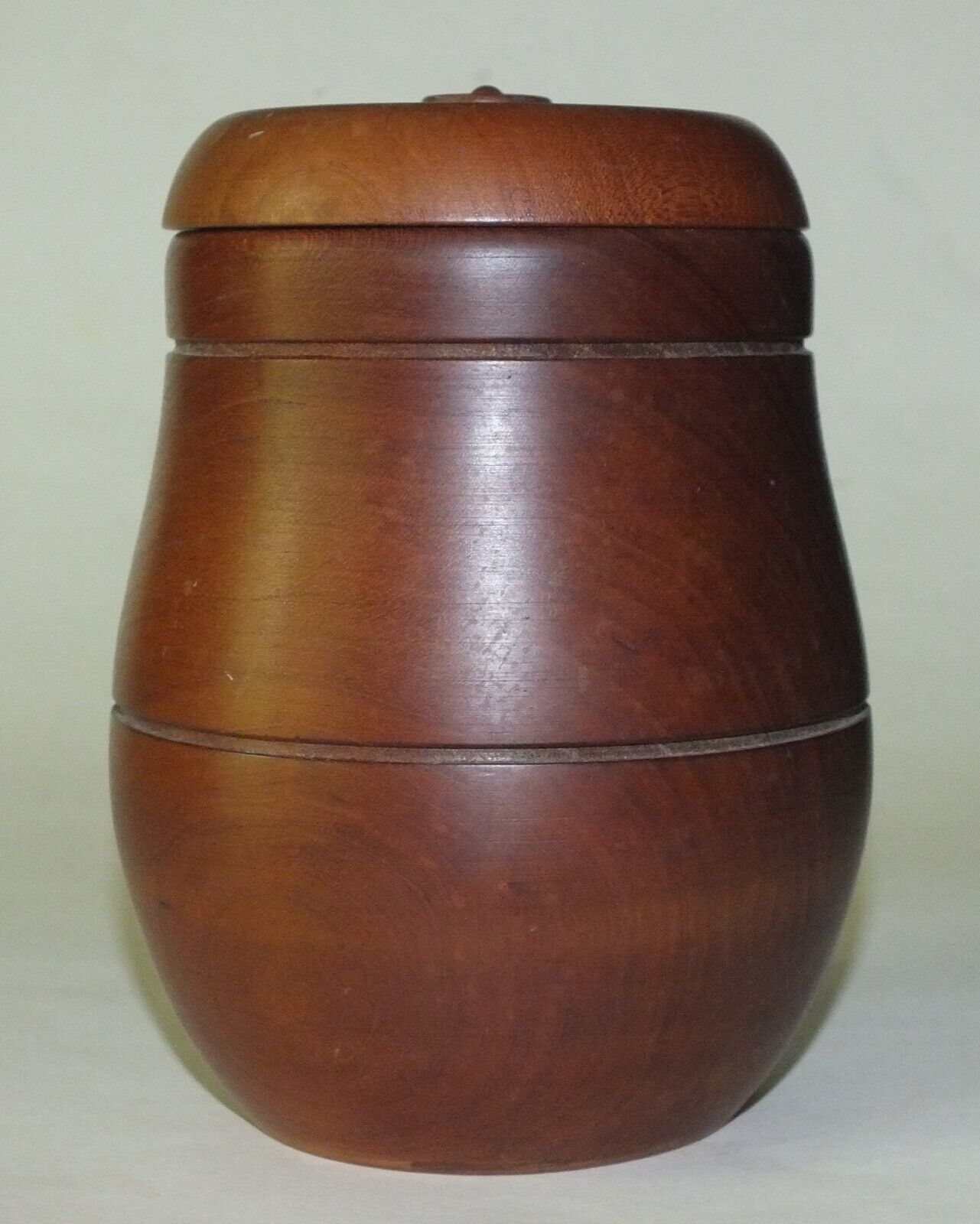 KP Wood Jar With Cover - $15.00
