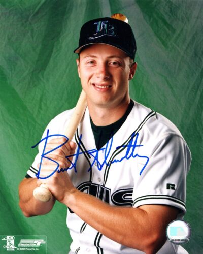 Brent Abernathy Tampa Bay Devil Rays Signed 8x10 Photo BSC COA Autograph