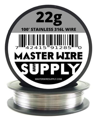 MWS - SS 316L - 100 ft. 22 Gauge AWG Stainless Steel Resistance Wire 22g 100'