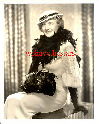 Vintage Billie Burke CHARACTER ACTRESS 30s GLAMOUR FASHION DBW Pub Portrait