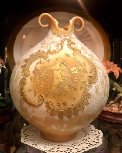RARE MT. WASHINGTON CROWN MILANO ART GLASS VASE