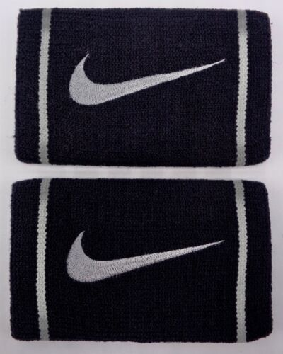 Nike Doublewide Wristbands Dri-Fit Black/Base Grey Men