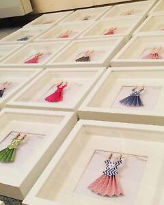 Framed Art - Handmade Paper Dresses Coogee Eastern Suburbs Preview