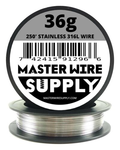 MWS - SS 316L - 250 ft. 36 Gauge AWG Stainless Steel Resistance Wire 36g 250'