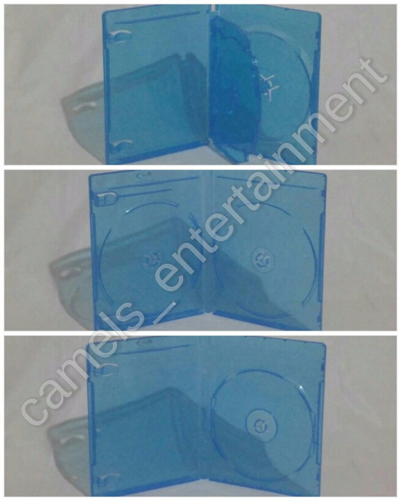 Blu-ray Case Replacement w/ LOGO (1-Disc / 2-Disc / 3-Disc Holder) NEW