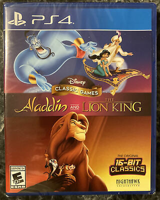 NEW Disney Classic Games: Aladdin and the Lion King (PlayStation 4, 2019) PS4