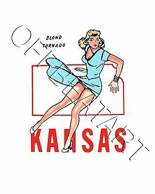 Travel Humor Hot Rat Rod Vinyl Decals Kansas Pinup #21