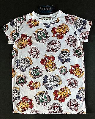 Harry Potter Damen T-Shirt Hogwarts Häuser Wappen Bluse Top 38 40 42 44 46 Neu