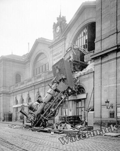 Photograph of the Paris France Montparnasse Train Wreck Year 1895  8x10