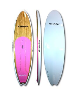 Stand up paddle board new pink and timber beginner SUP 10'x32""
