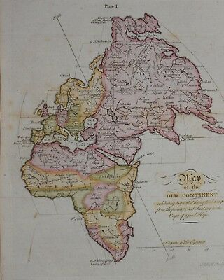 MAP OF THE OLD CONTINENT BY ANDREW BELL, CIRCA 1800.