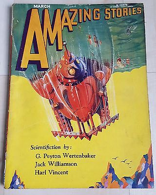 Amazing Stories vintage pulp fiction comic March 1930 vol 4 no 12