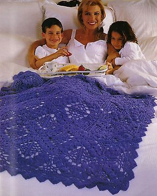 COZY Mother's Day Memories Afghan/Crochet Pattern INSTRUCTIONS -