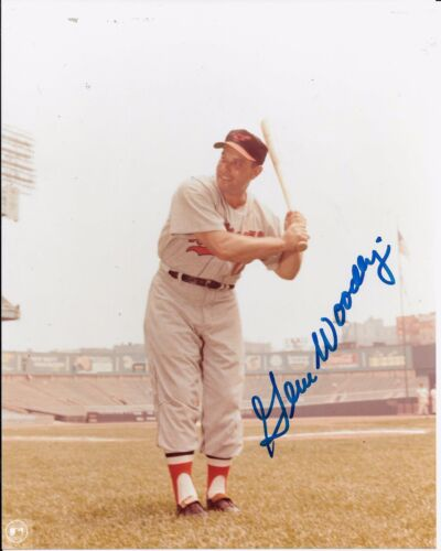 GENE WOODLING 6 TIME WORLD SERIES CHAMPION RARE BALTIMORE ORIOLES SIGNED PHOTO