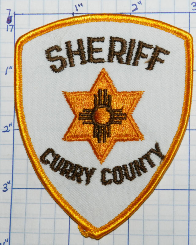 NEW MEXICO, CURRY COUNTY SHERIFF DEPT WHITE VINTAGE PATCH