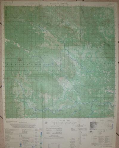 6733 i - US ARMY MAP - Buon Thach Trai - Khanh Hoa Province - SOG - Vietnam War