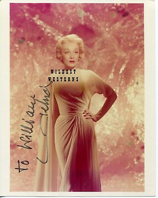 MARLENE DIETRICH Signed Autograph SEXY rare PHOTO