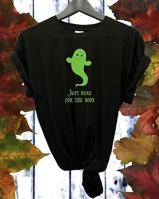 Only Here for the Boos Glow in the Dark Halloween Unisex T shirt - Glow In The Dark T-shirts For Halloween
